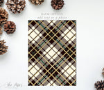 Holiday Invitation: Christmas Jingle & Mingle, Ivory Plaid