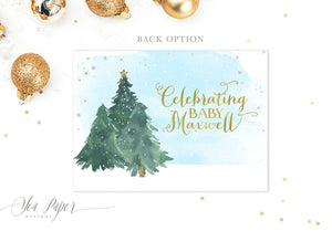 Holiday 1: Baby it's Cold Outside, Baby Shower Invitation {Blue}