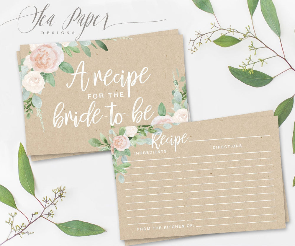 Mila: Recipe for The Bride Cards {Kraft}