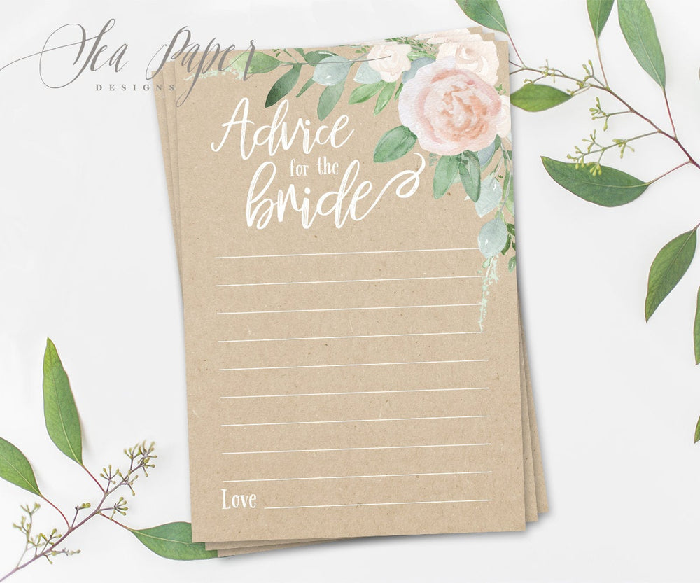 Mila: Advice for The Bride Cards {Kraft}