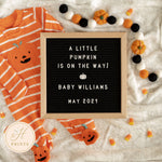 Editable Halloween Pregnancy Announcement, Pumpkin Pregnancy Announcement Template, Gender Neutral Digital Baby Announcement