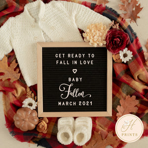 Fall Pregnancy Announcement, Editable Fall Pregnancy Announcement, Fall Pregnancy Announcement Template, Autumn Pregnancy Social Media