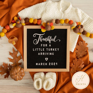 Editable Thanksgiving Pregnancy Announcement, Fall Pregnancy Announcement Template, Pregnancy Announcement, Turkey Pregnancy Announcement =