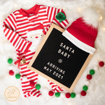 Christmas Pregnancy Announcement, Editable Holiday Digital Pregnancy Announcement, Santa Baby Social Media Pregnancy Letter Board