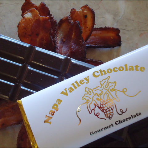 Applewood Bacon Chocolate Bar, Gourmet Chocolate Bar, Chocolate Candy Bar