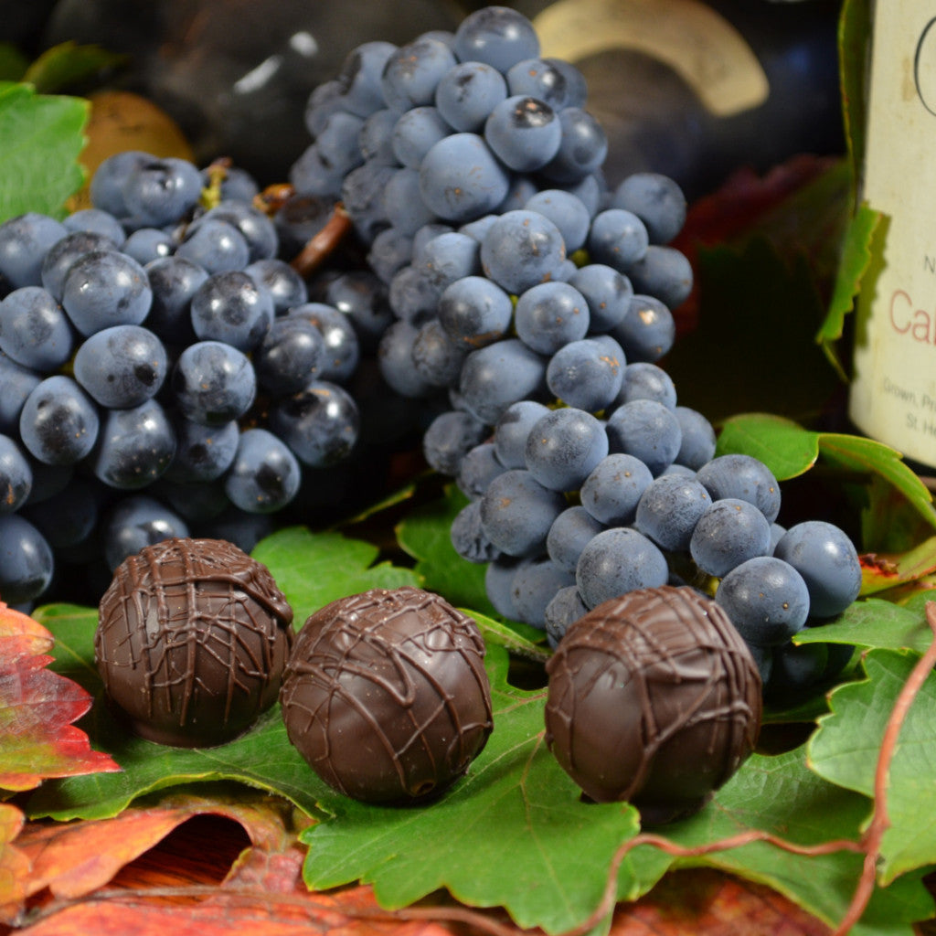 Cabernet Sauvignon Chocolate Truffles, Gourmet Chocolate Truffles, Premium Chocolate Truffles, Wine and Chocolate, Cabernet and Chocolate