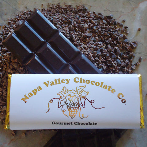 Cocoa Nib Chocolate Bar, Gourmet Chocolate Bar, Chocolate Candy Bar, Premium Chocolate Bar