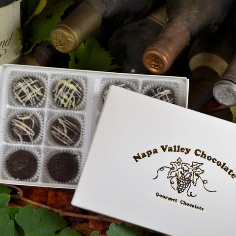 Wine Cellar Chocolate Truffle Collection, Gourmet Chocolate Truffles, Premium Chocolate Truffles, Wine and Chocolate
