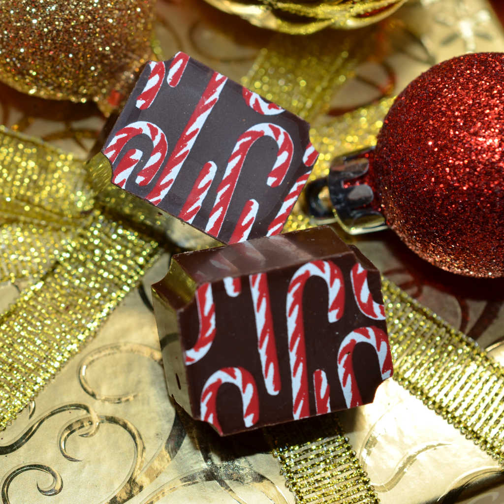 Candy Cane Chocolate Truffle