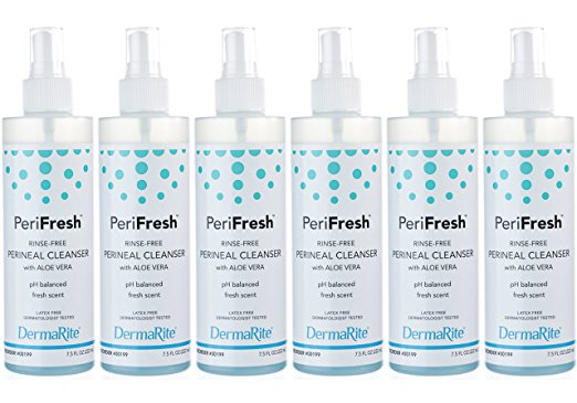 Dermarite PeriFresh Rinse-Free Perineal Cleanser 7.5 Ounces (Pack of 6)
