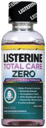 Listerine Total Care Zero Anticavity Mouthwash, Fresh Mint 3.2 oz (Pack of 2)