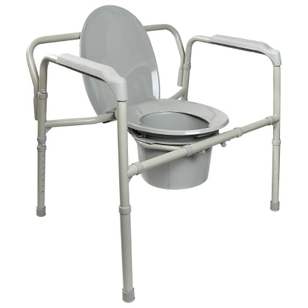 McKesson Heavy-Duty Folding Bariatric Commode with 12 QT Bucket
