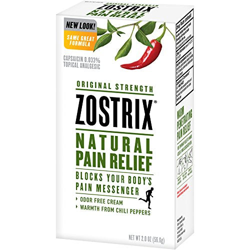 Zostrix Natural Pain Relief Cream Original Strength - 2 oz, Pack of 4