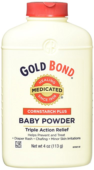 Gold Bond Cornstarch Plus Baby Powder 4 oz (Pack of 3)