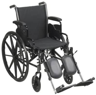 McKesson Lightweight Wheelchair with Swing Away Elevating Leg Rests