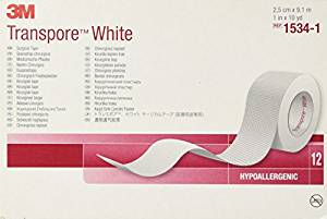 "3M Medical Tape Transpore Adhesive 1""X 10 Yards NonSterile (#1534-1, Per Piece)"