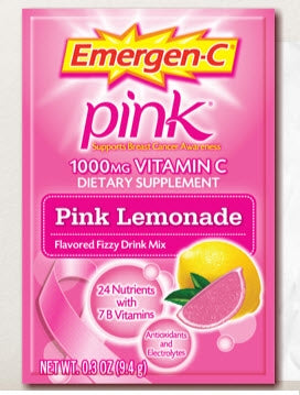Emergen-C (30 Count, Pink Lemonade Flavor) Dietary Supplement Drink Mix with 1000 mg Vitamin C, 0.33 Ounce Packets