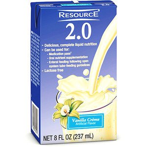Resource 2.0 Vanilla Creme Brikpak 27 X 8oz Case