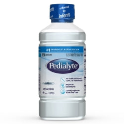 Pedialyte Electrolyte Solution, Hydration Drink, Unflavored, 1 Liter, 8 Ct