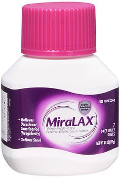 MiraLAX - Laxative - Unflavored Powder - 4.1 oz. 17 Gram Strength - Polyethylene Glycol-McK
