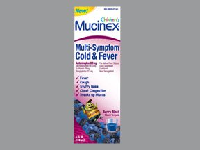 Children's Mucinex® Multi-Symptom Cold & Fever - Cold Relief - 325 mg / 200 mg / 10 mg Strength - Liquid 4 oz.