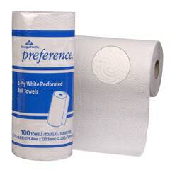 27300 Perforated Paper Towel, 8 4/5 x 11, White, 100 Per Roll (Case of 30 Rolls)