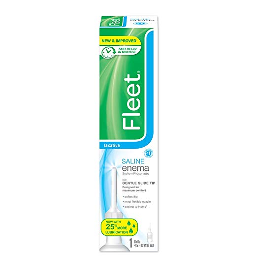 Fleet Enema Saline Ready to Use - 4.5 Oz (12 Pack)