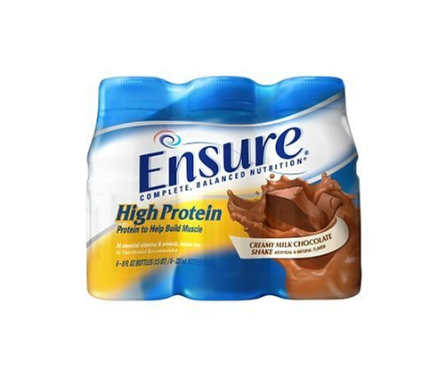 Ensure High Protein Complete Balanced Nutrition Drink, Ready to Use, Creamy Milk Chocolate, 24- 8 Fluid Ounce Bottles