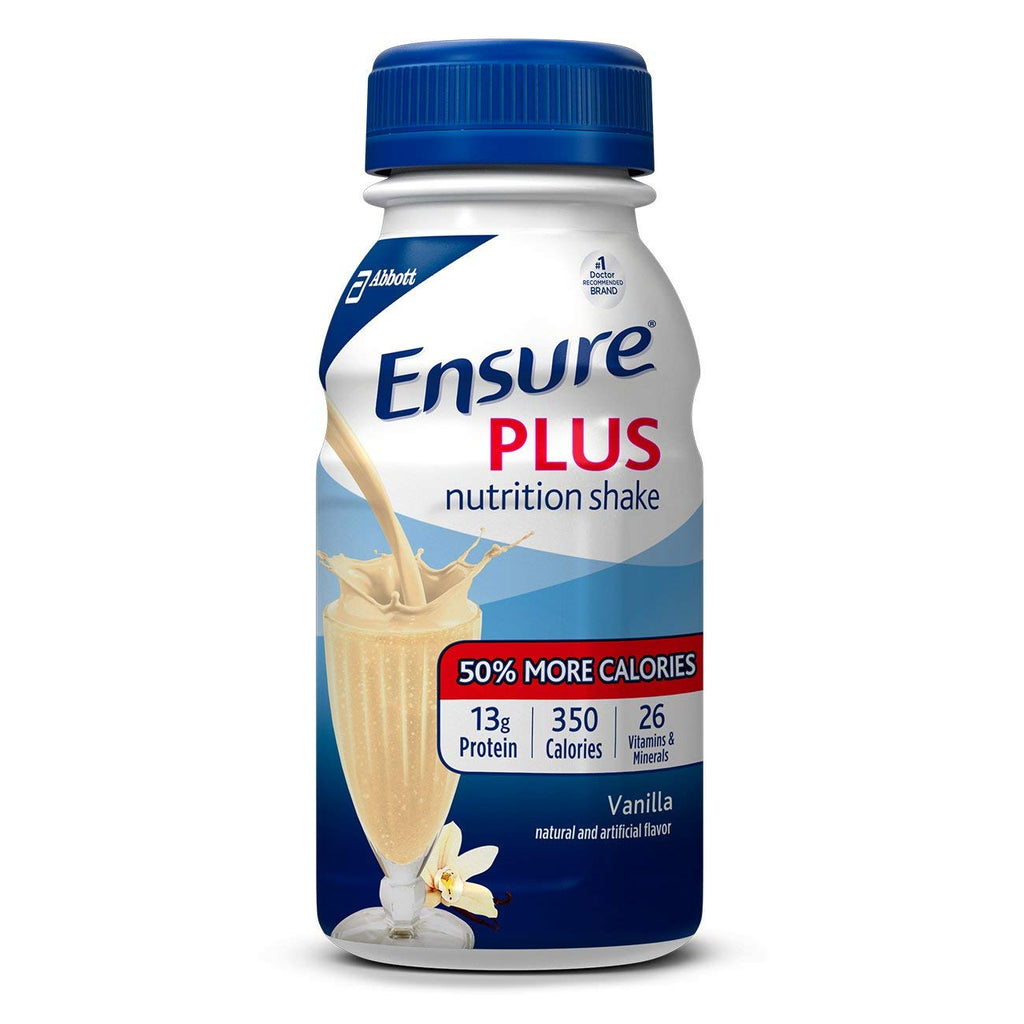 Ensure Plus Nutrition Shake, Vanilla, 8 ounces, 24 count