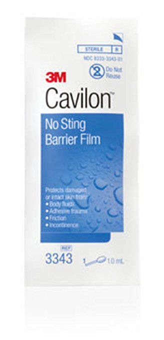 3M Cavilon No Sting Barrier Film 3343, 100 Applicators (Pack of 4)