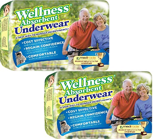 (Set/2) Wellness Super Absorbent Underwear Manage Incontinence - XL, 24 Count