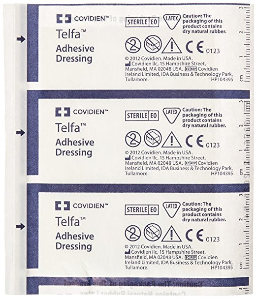 "Telfa Kendal Ouchless Adherent 3"" x 4"" Sterile Dressings 100 Count"
