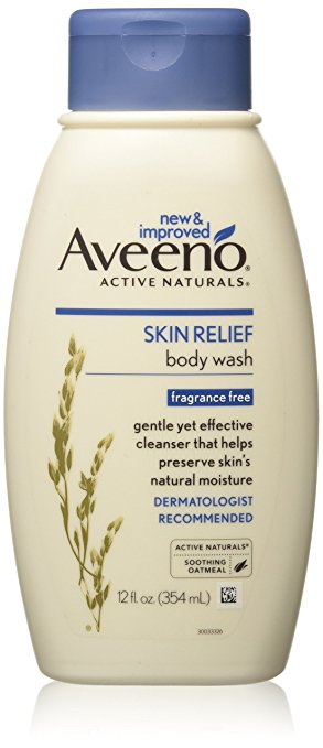 AVEENO Active Naturals Skin Relief Body Wash Fragrance Free 12 oz (Pack of 8)