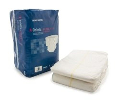 McKesson Incontinent Brief Tab Closure 3X-Large Disposable Heavy Absorbency (Bag of 8)