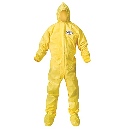 Kleenguard A70 Chemical Spray Protection Coveralls (00683) Suit, Hooded, Boot...