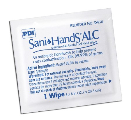 Professional Disposables D43600 Sani-Hands ALC Hand Wipes-1000/Case