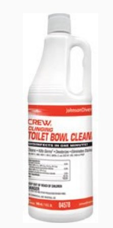Crew Heavy Duty Toilet Bowl Cleaner, Minty, 32 oz Squeeze Bottle
