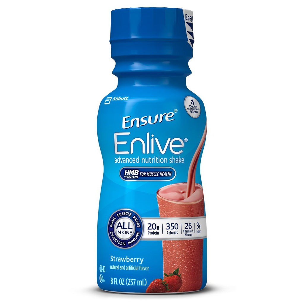 Ensure Enlive Nutrition Shake, Strawberry, 8 fl oz, 16 Count