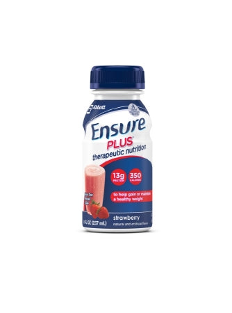 Ensure Plus Nutrition Shake, Strawberry, 8 ounces, 24 count