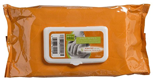 "Nice and Clean Baby Wipes Scented 7"" x 8"" (Tub of 80)"