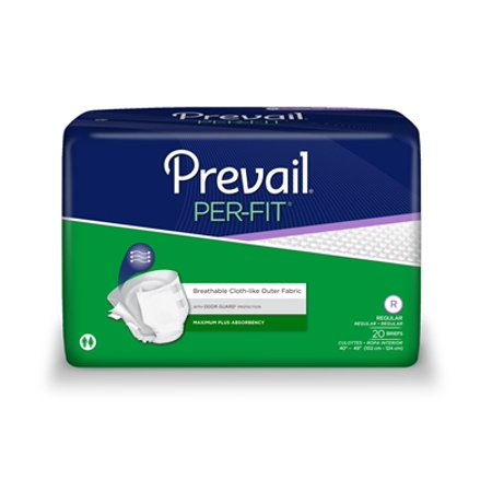 Prevail Per-Fit Adult Brief, REGULAR, Heavy Absorbency, PF-016 - Pack of 20