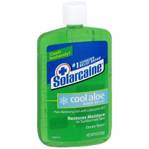 Solarcaine Cool Aloe Burn Relief Gel 8 oz (Pack of 6)