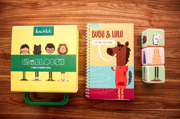 Bubu & Lulu Blocks & Colouring Book Set