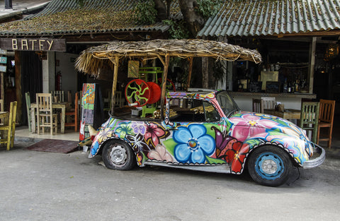 hippie-volkswagon-beetle-tulum-mexico-bohemian-travel-style