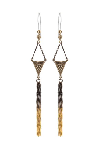 Mahani Tassel Earrings - Brass - Tierra Alma