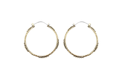 Raja Large Bangle Hoops - Brass - Tierra Alma