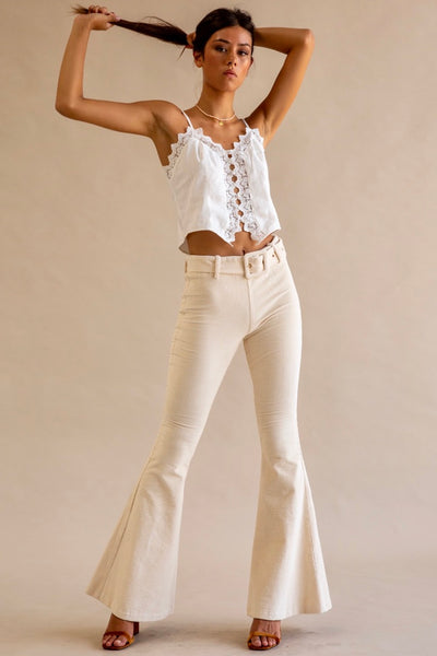 Lykke Belted Pants - Cream