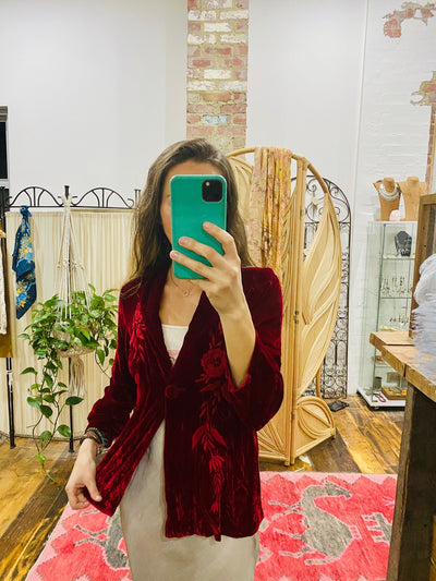 Red Love Velvet Jacket