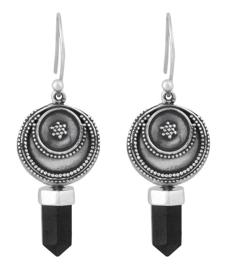 Prophetic Earrings Black Onyx - Tierra Alma