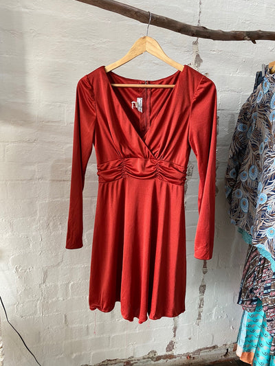 Vintage Red Slip Dress - Tierra Alma